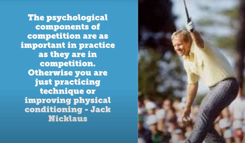 Jack Nicklaus Competitive Practice Drill
