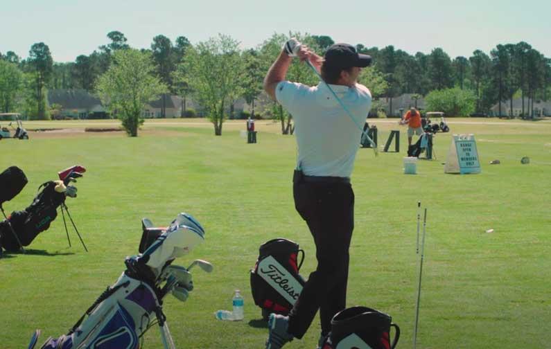 Nick Faldo One Wrap Drill: Hit It Hard And High