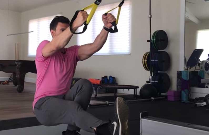TRX Single Leg Squat Golf Fitness Drill