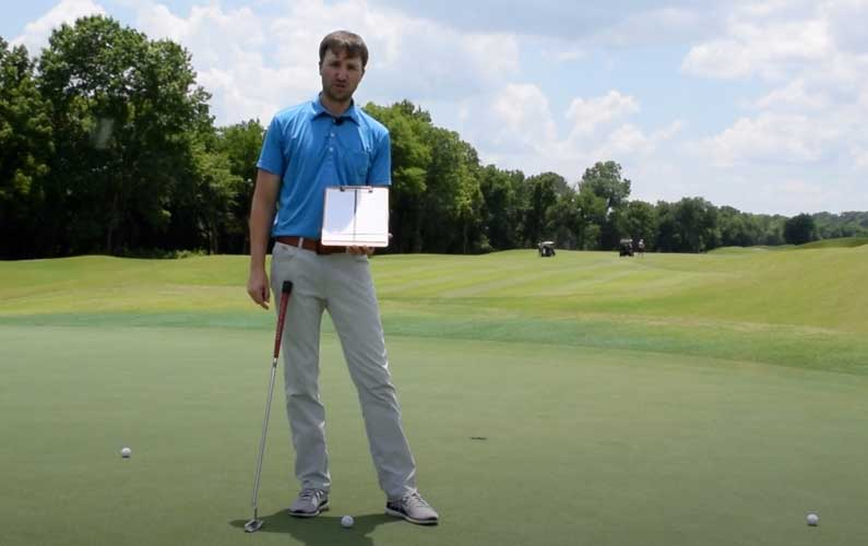 Find The Straight Putt Green Reading Drill