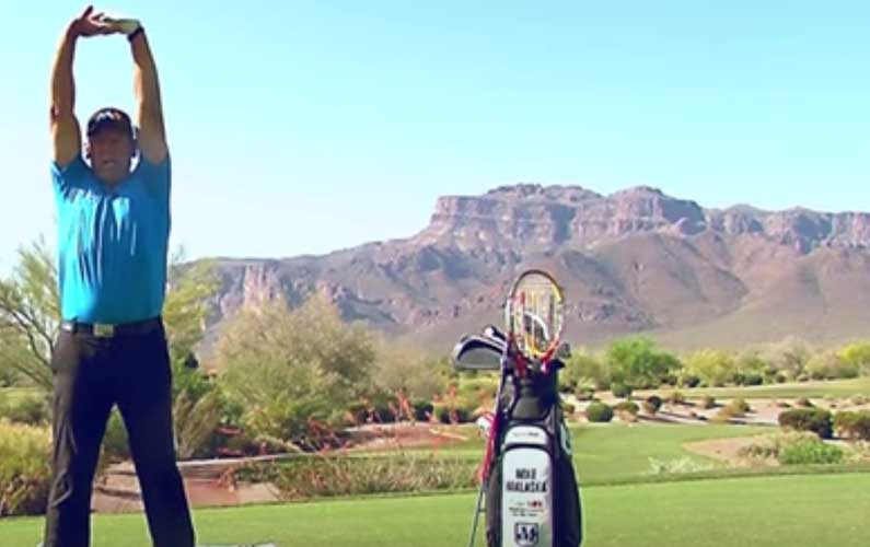 Fingers Stretch Golf Warmup Drill