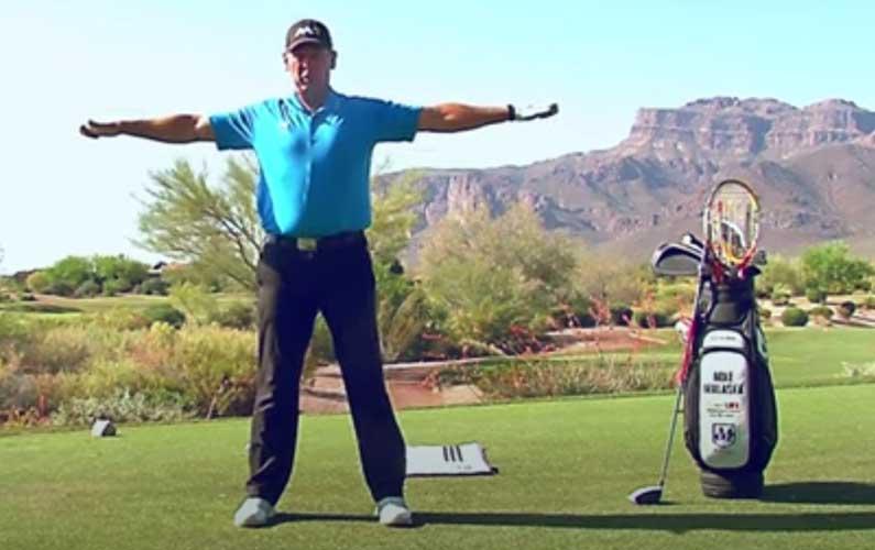 arm circles golf warmup drill
