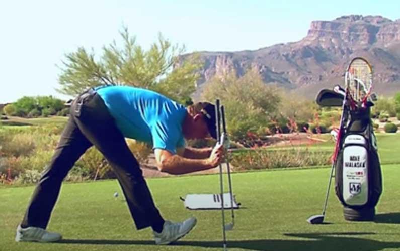 Hamstring Stretch Golf Warmup Drill