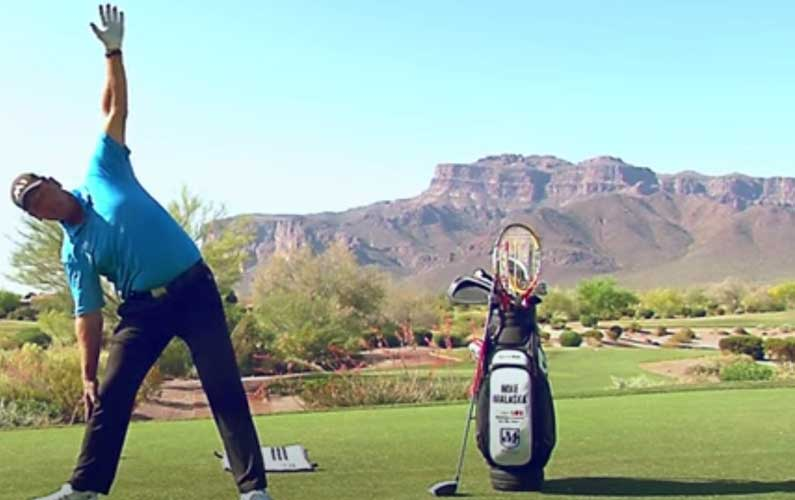 Side Stretch Golf Warmup Drill