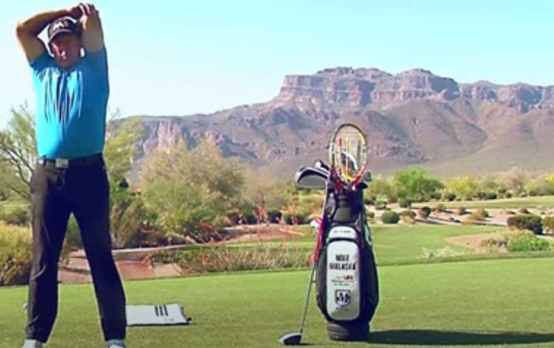 Triceps Stretch Golf Warmup Drill